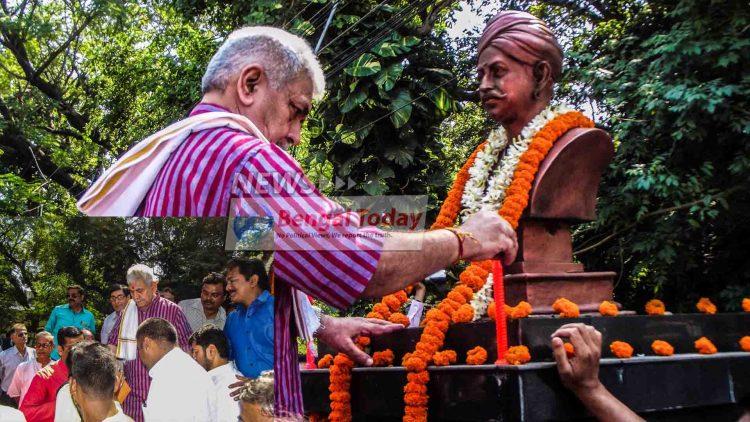 ব্যারাকপুরে সাত সকালেই মঙ্গল পান্ডের মূর্তির পাদদেশে রেল রাজ্য মন্ত্রী